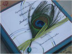 Peacock wedding invitations greenalien