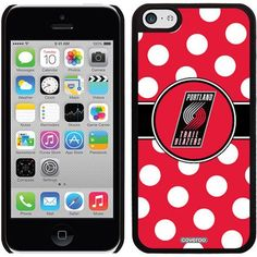 Portland Trailblazers Polka Dots Design on Apple iPhone 5c Thinshield Snap-On Case by Coveroo