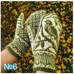 Ravelry: Songbird Mittens pattern by Erica Heusser Knitted Mittens Pattern, Knit Mittens, Knitting Charts, Sweater Knitting Patterns, Knitted Gloves, Knitting Stitches, Knitting Socks, Hand Knitting, Crochet Patterns
