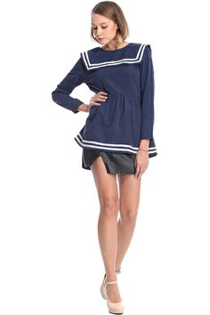 """Not crazy about any of the stuff on romwe, but this Blue Navy """"Dress"""" is very sweet."""