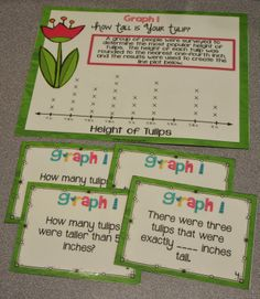 Graphing Task Cards-Part of Spring Math Centers for Test Prep-Includes center activities for all of the third grade Common Core Standards. $