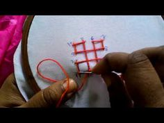 Ribbon Embroidery For Beginners Hand Embroidery: Sindhi Design Hand Embroidery Videos, Hand Embroidery Flowers, Embroidery Stitches Tutorial, Embroidery Works, Types Of Embroidery, Learn Embroidery, Silk Ribbon Embroidery, Embroidery For Beginners, Hand Embroidery Patterns