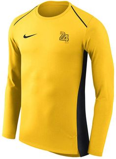 Los Angeles Lakers Nike City Edition Hyperelite Long Sleeve Performance  T-Shirt – Gold 97ea86d5d