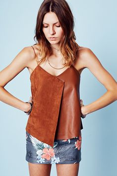 VEDA Valley suede tank from the SS15 Collection