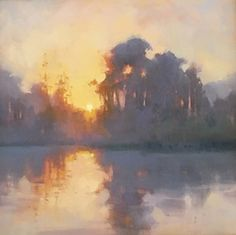 Dream by Carole Boggemann Peirson Oil ~ 20 x 20 - -Day Dream by Carole Boggemann Peirson Oil ~ 20 x 20 - - Paul Batch - Lake Sunrise- Oil - Painting entry - March 2015 Pastel Landscape, Landscape Artwork, Abstract Landscape Painting, Contemporary Landscape, Watercolor Landscape, Landscape Oil Paintings, Landscape Fabric, Watercolor Artists, Acrylic Paintings