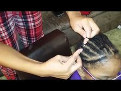 How To: Install Knotless Crochet Braids - YouTube