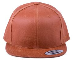 Flexfit Rustic Leather Snapback - Rust