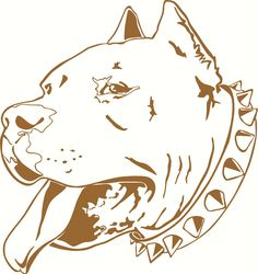Pit Bull Head Profile Vinyl Cut Out Decal, Sticker - Choose your Color and Size