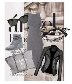 """""""Untitled #5"""" by danijela-josimov-grbic ❤ liked on Polyvore featuring Cushnie Et Ochs, Robert Lee Morris, Oliver Peoples, Chanel and Puma"""