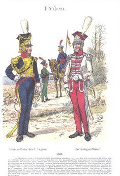 Band XIV #4.- Polen. 1807. Ulanen-Offizier der 1. Legion. Chevauleger-Offizier.