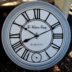 Silver Framed Wall Clock  with second hand 28 by WallClockDesigns