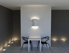Επένδυση Τοίχου Καφετέριας με διακοσμητική ξύλινη επιφάνεια με Τουβλάκια [Σειρά Bricks] Wall Lights, Lighting, Home Decor, Appliques, Decoration Home, Room Decor, Lights, Home Interior Design, Lightning