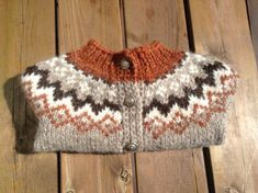 Made to order Icelandic sweater baby sweater handknit by Klettur Boys Sweaters, Warm Sweaters, Icelandic Sweaters, Fair Isle Knitting Patterns, Sweater Making, Baby Cardigan, Womens Scarves, Hand Knitting, Knitted Hats