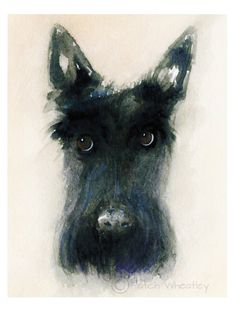 A personal favourite from my Etsy shop https://www.etsy.com/uk/listing/459578240/scottie-dog-art-print