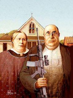 détournement American Gothic