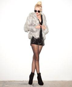 Open Faux Fur Jacket | FOREVER 21 - 2050617769