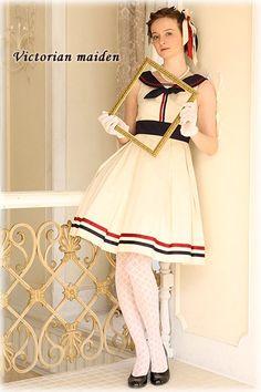 Victorian maiden | French Marine Ribbon Line Dress