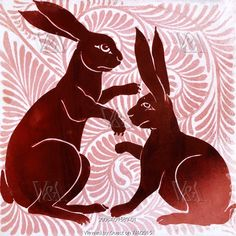 Tile with Rabbit design, by William de Morgan. London, England, late 19th century