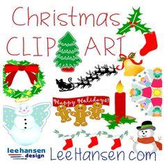 christmas clip art leehansen.com