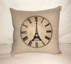 Time in Paris Pillow French Shabby Chic by frenchcountrydesigns, $8.99