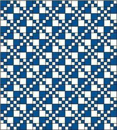 Esquema manta azul y blanco