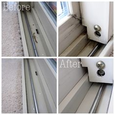 Deep cleaning windows - including the gross tracks!