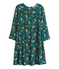 Vestido estampado | Turquesa oscuro | Ladies | H&M CL