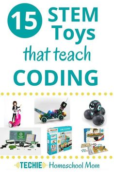 This list of 15 STEM Toys that teach coding will give you lots of gift ideas for techie kid.s