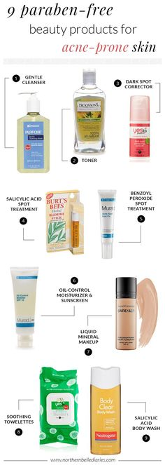 9 Paraben-Free Beauty Products for Acne-Prone Skin #beauty #acne #beautyreview