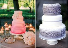 Very lovely! Very nice Ombre wedding cakes.