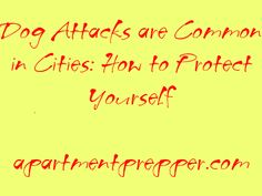 Dog Attacks are Common in Cities: How to Protect Yourself | Apartment Prepper | #prepbloggers #dogattack