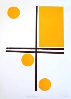 Sweet Music Print by Rachel Castle. Mid Century Modern Art, Mid Century Art, Textile Patterns, Print Patterns, Painting & Drawing, Game Design, Bauhaus Design, Shape Art, Art Plastique