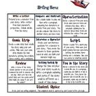 FREE! Two different choice boards for responding to Novels to provide differentiated options for your students to show their learning and thinking.