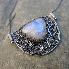 Moonstone Shield Necklace