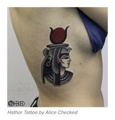 Another tattoo of Hathor, the Egyptian goddess of love. I absolutely love the style and coloring of this piece!