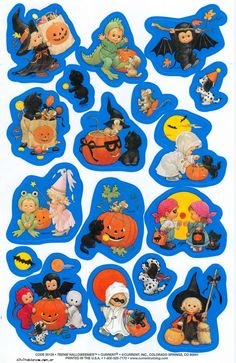 Halloween Ii, Vintage Halloween, Halloween Crafts, Halloween Decorations, Spooky Scary, Halloween Stickers, Autumn Inspiration, Cute Illustration, Vintage Pictures