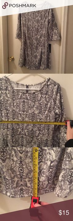 Massini brand dress Massini brand dress size S, new with tags! Fun flared sleeves that are mid-length down the arm. Massini Dresses