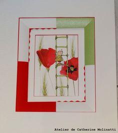 L'activité de l'atelier a repris cette semaine .... Place à l'encadrement , avec plein de techniques differentes et des sujets très variés .... Je commence par la triple fenêtre ouverte de Dominique ( Aquarelle de Chantal Dubois Perrier ) Toujours sur...