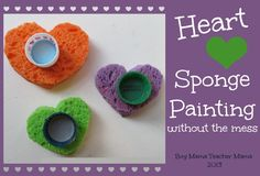 Boy Mama: Heart Sponge Painting (without the Mess)