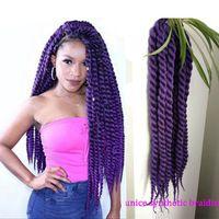 Havana Mambo Twist Crochet Braids 12''-24'' 5 Pcs/lot Synthetic Braiding Hair Kanekalon Fiber Havana Braid Twist Hair Extensions
