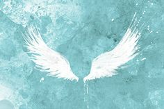 My angel's wings... White Wings turquoise Art Large Fine Art Print 24x36 by papermoth, $125.00