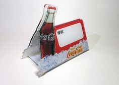 Vintage Coca Cola Acrylic Restaurant Table Menu Holder Stand by mycoffeeboy