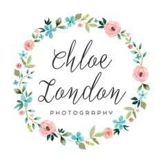 Wreath Logo - Customized with Your Business Name Premade Logo - Floral Wreath LogoPremade Logo - Floral Wreath Logo Wreath Watercolor, Watercolor Flowers, Watercolor Paintings, Watercolour, Flower Frame, Flower Crown, Logo Couronne, Floral Vintage, Pop Up Window