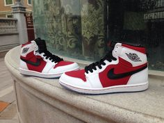 Air Jordan AJ1 Jordan 1 Men And Women Shoes A  Lovers White Red|only US$65.00 - follow me to pick up couopons.