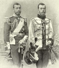 A nice montage made in late 1890s of Prince George, duke of York (and later King George V of england) and his cousin, Tsar Nicholas II. They look like twins! ♥︎♥︎♥︎