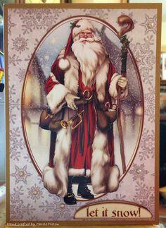 Christmas Card (95) - A5 - makings from Debbi Moore Santa Claus Vol 3 (decoupage)