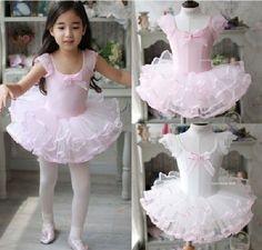 Niñas bebés niños Toddler Party leotardo Ballet Tutu Skate Dancewear vestidos Size3-10Year rosa blanco Dancy vestir ropa vestuario