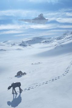 10/06/17  9:15p   ''Star Wars  Ep V  Empire Strikes Back'' 1980   Ice Planet of Hoth   Imperial Walker  margaretems.tumblr.com