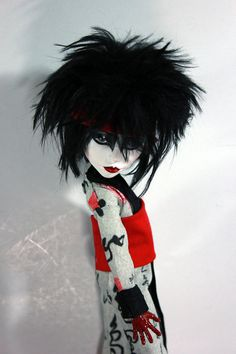 Siouxsie Sioux Tribute OOAK Monster High Spectra by Refabrications  #refabbed…