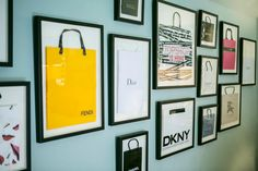Kat Nelson Designs~Shopping bags made wall decor